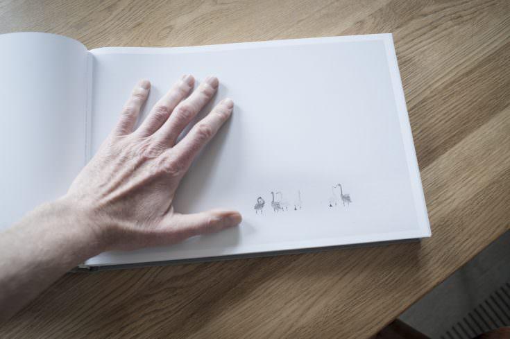 Bogen er trykt på rart tykt papir
