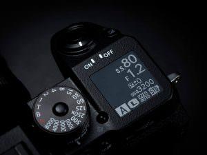 Fuji X-H1 - Top display