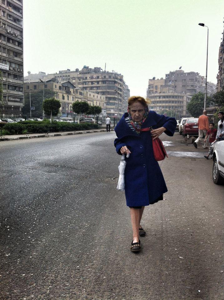 """The Road"" af Nazira Hanna, Cairo 2014."